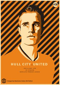 Match poster: Hull City vs Manchester United, 24 May 2015. Designed by @manutd.