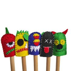 monster fingerpuppets - fingerpuppets are fun to use when tracking text