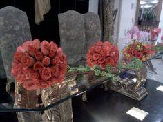 Topiarios con rosas