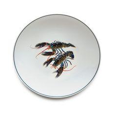 Jersey Pottery Seaflower Blue Lobster Dinner Plate #JerseyPottery #ceramics #pottery #shellfish #marine