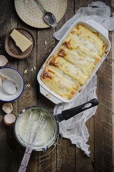 #crespelle ai finocchi, ricotta, pecorino e pinoli #crepes salate