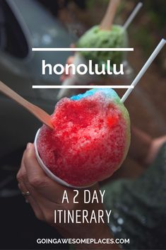 Here's the lowdown of things to do, activities to try and path to take for your 48 hours in the beautiful city of Honolulu, Oahu, Hawaii. #HawaiiDestination