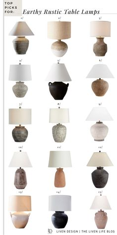 Rustic Table Lamps, Ceramic Table Lamps, Rustic Decor, Traditional Bedroom, Modern Traditional, Home Decor Kitchen, Home Decor Bedroom, Modern Spanish Decor, Decor Pad