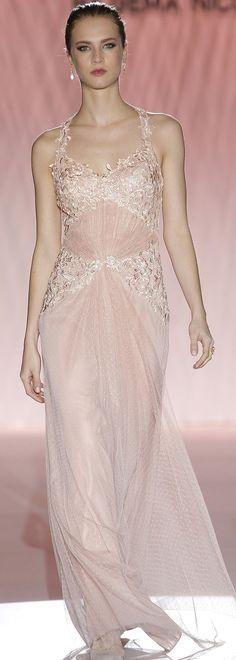 Cabotine S/S 2015 | blush wedding dress | pale pink wedding dress