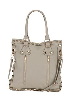 Zip Front Studded Tote available at #Maurices