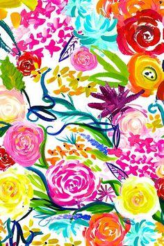 Bright Wallpaper, Trendy Wallpaper, Wallpaper Backgrounds, Iphone Wallpaper, Wallpapers, Watercolor Wallpaper, Watercolor Flowers, Watercolor Art, Boho Pattern