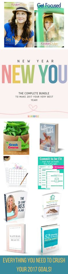 Get the New Year, New You Bundle, the VERY BEST collection of products to help you make 2017 your best year ever! HURRY, HURRY! Only available until through January 1, 2017. Click now to see what's included! New Year's Resolutions 2017, New Year's Resolutions Ideas