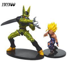 YNYNOO 2 pcs/Set Dragon ball Z action figures toys gohan vs cell 2017 New 17/20cm Dragon ball Z Anime collectibles resurrection #Affiliate