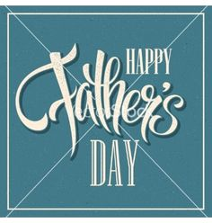 Happy fathers day hand lettering card vector typography- by Vik_Y on VectorStock®