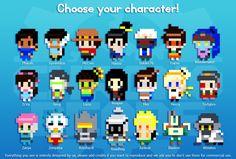 Overwatch character keychains -original perler designs by ChronoBeads
