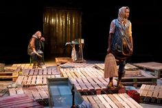 Recycled Pallets theatre sets | Our pallets make stage debute at Manchester's Royal Exchange