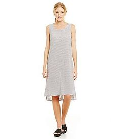 Eileen Fisher Scoop Neck High-Low Tank Dress