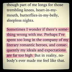 Story of my life (especially if you add romantic heroes from cinema!) - from Fifty Shades of Grey