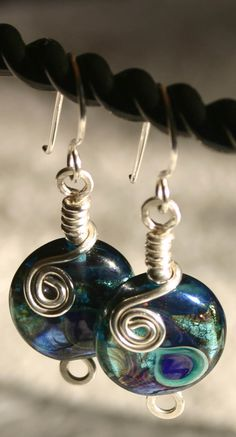 Lampwork bead earrings by Moonlighting Artistry