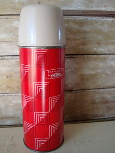Sweet red thermos