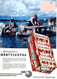 Mäntysuopa- a special kind of soap that we wash our rugs with it each summer through decades.