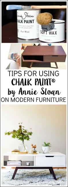 Tips for using CHALK PAINT® BY ANNIE SLOAN on modern furniture.