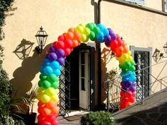 Idea de arco colorido, foto encontrada en la WEB.