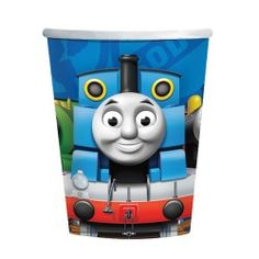 Copos de Cartão descartáveis para festas de aniversário do tema Thomas and Friends  /  Thomas and friends disposable Paper Cups