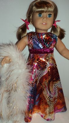 American Girl doll clothes  Gold Metallic Gown by susiestitchit, $16.00