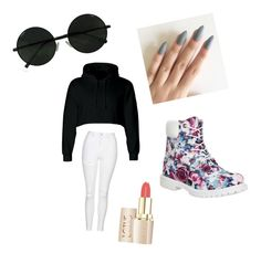 Swaggy by lilcarmelmami on Polyvore featuring polyvore fashion style Topshop Timberland clothing