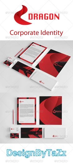 Dragon Corporate Identity Package  #GraphicRiver         Dragon Corporate Identity Package  	 A creative, High quality print ready corporate identity Stationery package templates. Add your own business name and text and you can be ready to go to print with this professionally designed suite of materials  	 Business Cad  	 Letterhead A4  	 Envelope  	 Presentation  	 Font:ChiTown, Myrid Pro  	 Please mail if a problem!     Created: 25September12 GraphicsFilesIncluded: VectorEPS Layered: Yes…