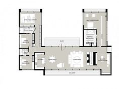 All About Home Design: Picture Note Pool House Floor Plans U Shaped: u shaped floor plans