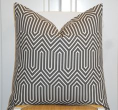 Decorative Pillow Cover   Steel Grey  by TurquoiseTumbleweed