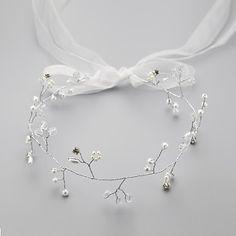 Women's/Flower Girl's Satin/Rhinestone/Alloy/Imitation Pearl Headpiece - Wedding/Special Occasion/Casual Flowers/Head Chain – CAD $ 13.89