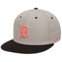 f5c1b690f58 Detroit Tigers Nike True Neon Logo Adjustable Hat - Gray Charcoal