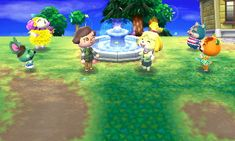 Animal Crossing: New Leaf Diary, Day 6: Completed the fountain project, I decided to put it as close to town hall as possible. Pudge said he would move out in a few days, yay!