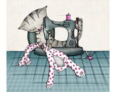 A sewing cat.