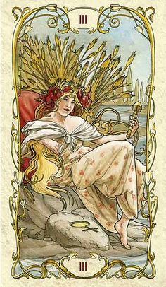 The Empress - Tarot Mucha
