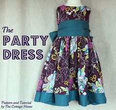 adorable party/holiday dress tutorial size 18mths-5t