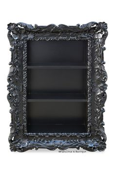 Felicia Wall Mounted Etagere - Black – Fabulous and Baroque