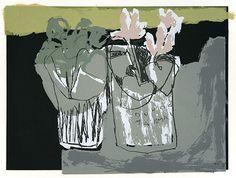 Cyclamen by Rosemary Vanns. Screenprint