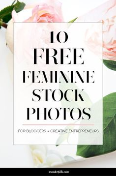 10 free feminine styled stock photos for bloggers + creative entrepreneurs. Perfect for social media or blog graphics. http://wonderfelle.com/freestockphotos