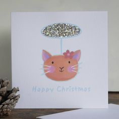 christmas cat card personalised by moobaacluck   notonthehighstreet.com