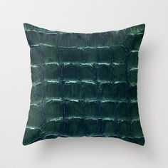 crocodile Throw Pillow by clemm - $20.00