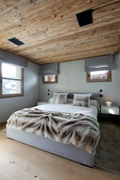 Chalet Cyanella, chamonix, 2007 by Bo Design #architecture #chalet #design #bedroom