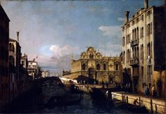 Bernardo Bellotto, Il rio dei mendicanti e la scuola di San Marco, olio su tela, Venezia, Gallerie dell'Accademia.