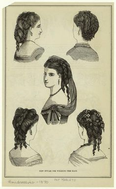 New styles for wearing the hair. (1870)