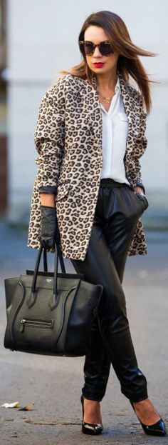 Leather Joggers http://www.cashmereinstyle.com/2013/11/leather-joggers.html