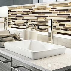 The Classically Redefined Ambre Ceramic Rectangular Vessel Bathroom Sink flaunts a contemporary design to make your interiors look classy and chic. This ceramic material is resistant to stains, a Modern Bathroom Decor, Grey Bathrooms, Bathroom Sets, Bathroom Interior Design, Bathroom Furniture, Small Bathroom, Master Bathroom, Bath Decor, Peach Bathroom