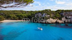 """/ Photo """"Lonely Beach"""" by Andreas Rickli menorca Trinidad, Menorca, Lonely, The Good Place, Travel Inspiration, Sailing, Spain, Boat, Water"""