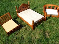 Dog Beds real wooden beds with bed post and mattresses for pets dog beds,  similar to  antique doll beds,  antique dog beds,