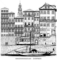 Portugal old Porto and traditional boat - Vector illustration - stock vector Boat Vector, Porto Portugal, Douro, Free Illustrations, Free Vector Art, Royalty Free Images, Stock Photos, Traditional, City