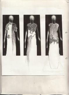Fashion Portfolio - ghostly fashion illustrations, fashion design process; fashion sketchbook // Alessandra Parolin