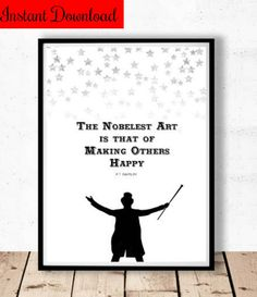 Noblest Art is that of Making Others Happy Quote, Greatest Showman Wall Art, P.T. Barnum Quote, Circus Printable, Greatest Showman Print #ad #Etsy #greatestshowman #thegreatestshowman #wallart