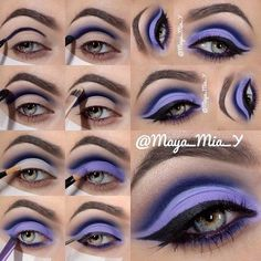 purple dramatic Step By Step Makeup Tutorial